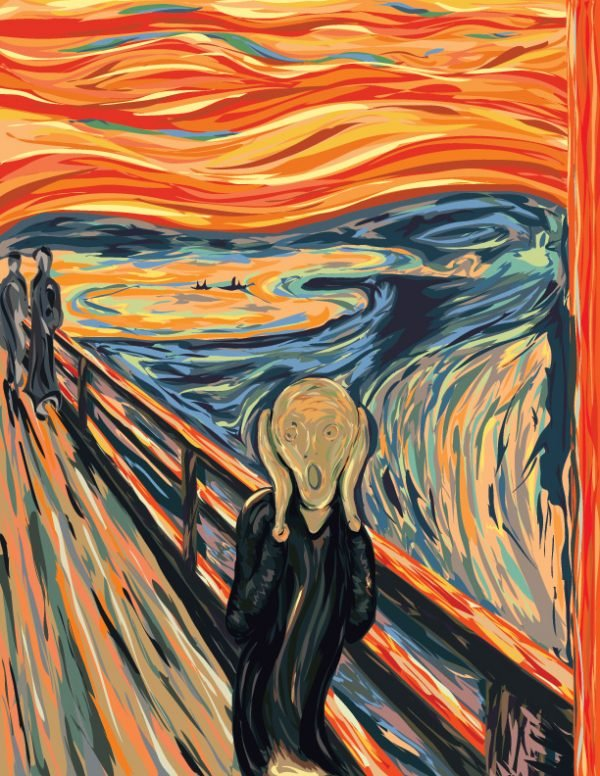 amazoncom the scream of nature edvard munch art print - 612×792